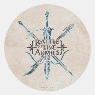 BATTLE OF FIVE ARMIES™ Logo Classic Round Sticker