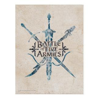 Battle Of Five Armies Logo Post Cards