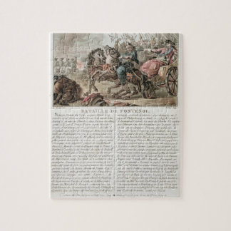 Battle of Fontenoy, 1745, engraved by Louis Le Coe Jigsaw Puzzle