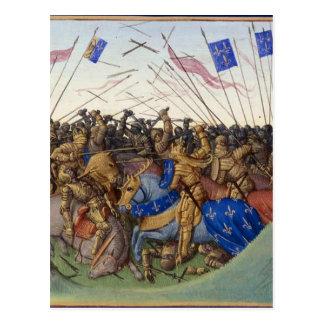Battle of Fontenoy-en-Puisaye in 841 by Jean Fouqu Postcard