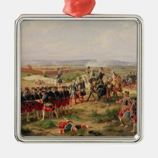 Battle of Fontenoy Square Metal Christmas Ornament