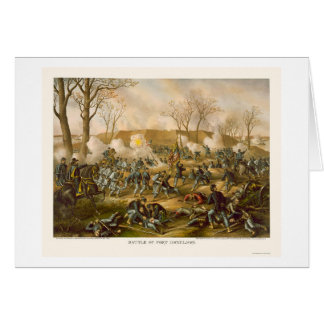 Battle of Fort Donelson by Kurz and Allison 1862 Card