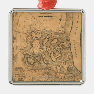 Battle of Fort Donelson - Civil War Panoramic Ma Metal Ornament