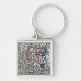 Battle of Fort Donelson - Civil War Panoramic Silver-Colored Square Keychain