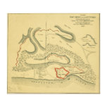 Battle of Fort Henry - Civil War Panoramic Map Canvas Print