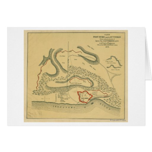 Battle of Fort Henry - Civil War Panoramic Map Card