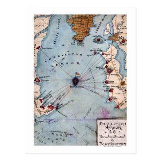 Battle of Fort Sumter - Civil War Panoramic Postcard
