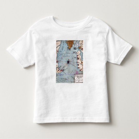 Battle of Fort Sumter - Civil War Panoramic Toddler T-shirt