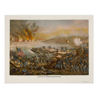 Battle of Fredericksburg by Kurz and Allison 1862 Poster