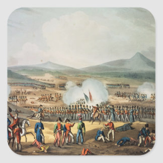 Battle of Fuentes D'Onoro,engraved by Thomas Square Sticker