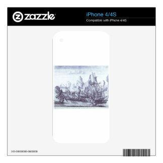 Battle of Gangut June 27, 1714 by Alexey Zubov iPhone 4 Decal