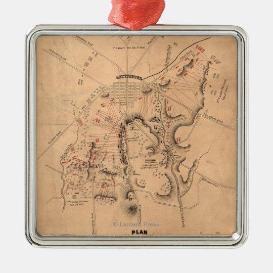 Battle of Gettysburg 11 Metal Ornament