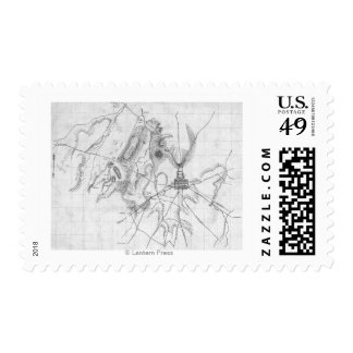 Battle of Gettysburg 13 Postage Stamps