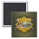 Battle of Gettysburg 2 Inch Square Magnet