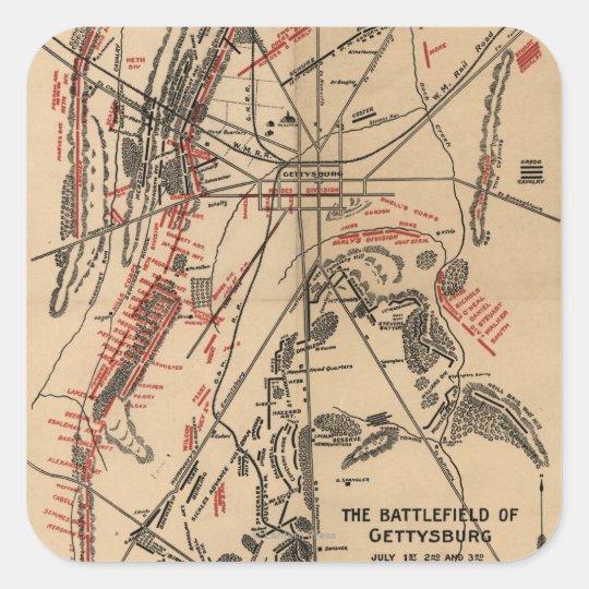 Battle of Gettysburg 2 Square Sticker