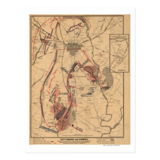 Battle of Gettysburg 4 Post Cards