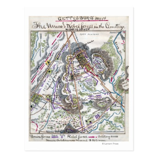 Battle of Gettysburg 6 Post Card