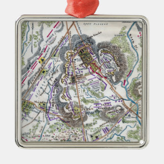 Battle of Gettysburg 6 Square Metal Christmas Ornament