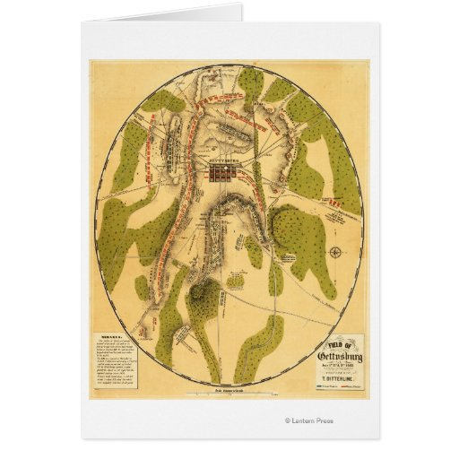 Battle of Gettysburg 7 Greeting Card
