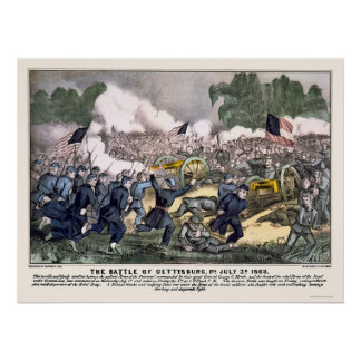 Battle of Gettysburg by  1863 Posters