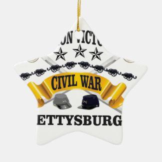 battle of Gettysburg Ceramic Ornament