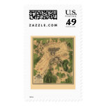Battle of Gettysburg, PA Panoramic Map - 1863 Postage Stamp