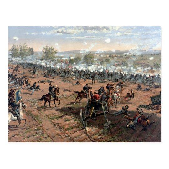 Battle of Gettysburg (restored) painting Postcard