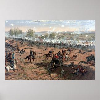 Battle of Gettysburg (restored) painting Poster
