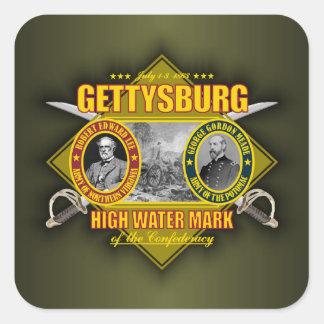 Battle of Gettysburg Square Stickers