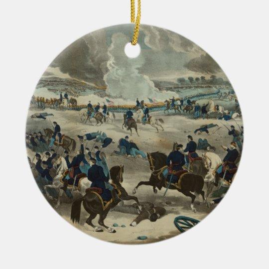 Battle of Gettysburg Water Color Ceramic Ornament