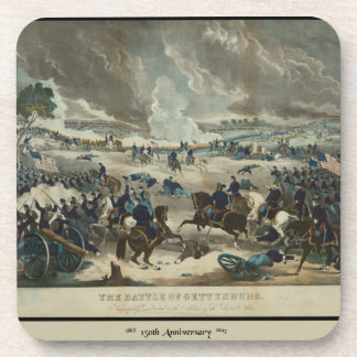 Battle of Gettysburg Water Color Drink Coaster