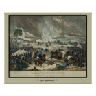 Battle of Gettysburg Water Color Print