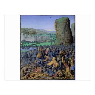 Battle of Gilboa Flavius Josephus by Jean Fouquet Postcard