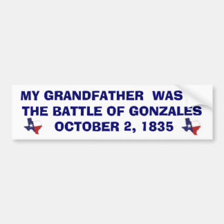 BATTLE OF GONZALES - 1835 CAR BUMPER STICKER