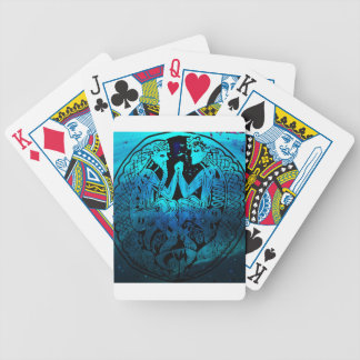 Battle of good vs evil bicycle playing cards