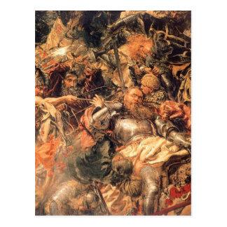 Battle of Grunwald (detail) by Jan Matejko Postcard