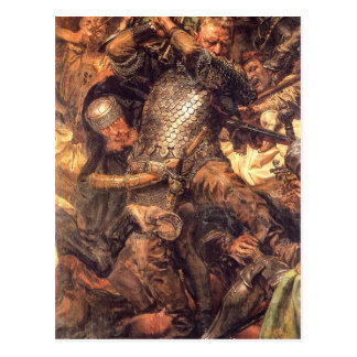 Battle of Grunwald, Jan Zizka (detail) Jan Matejko Postcard