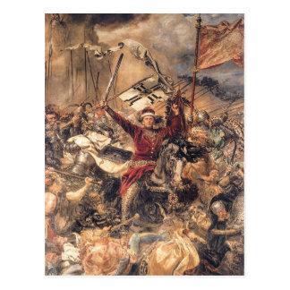 Battle of Grunwald, Witold (detail) by Jan Matejko Postcard