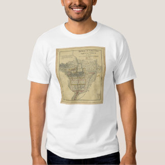Battle of Guildford Map March 15 1781 Tee Shirt