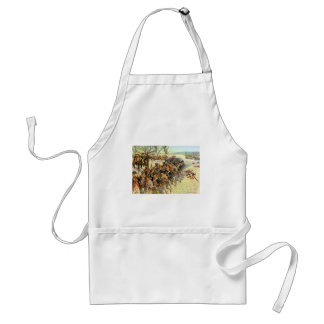 Battle of Guilford Courthouse by Charles McBarron Adult Apron