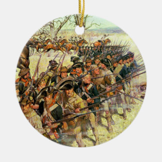 Battle of Guilford Courthouse by Charles McBarron Ceramic Ornament