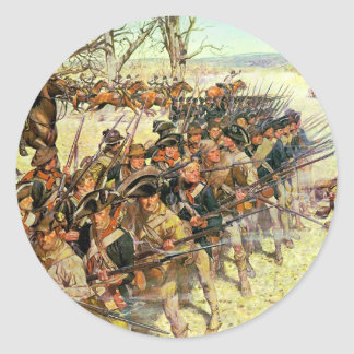 Battle of Guilford Courthouse by Charles McBarron Classic Round Sticker
