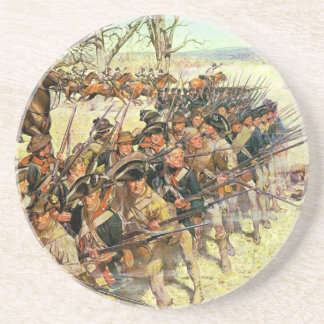 Battle of Guilford Courthouse by Charles McBarron Drink Coaster