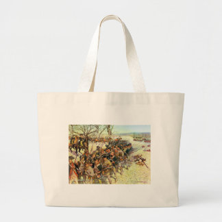 Battle of Guilford Courthouse by Charles McBarron Large Tote Bag