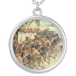 Battle of Guilford Courthouse by Charles McBarron Silver Plated Necklace