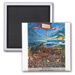 Battle Of Issus By Altdorfer, Albrecht 2 Inch Square Magnet