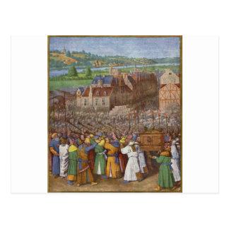 Battle of Jericho by Jean Fouquet Postcard