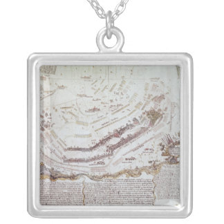 Battle of Kolin in Bohemia, 18th August 1757 Silver Plated Necklace