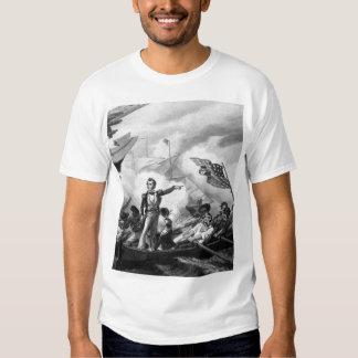 Battle of Lake Erie. September 1813.  Oliver Hazar Tee Shirt