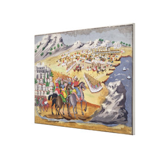 Battle of Langada and Compoti in 1821, from the Pi Canvas Print